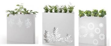 Jardinera con motivo decorativo