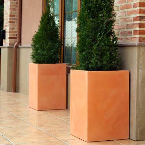 Maceteros de barro antiguo macetero en barro natural tipo - Maceteros de pared ...